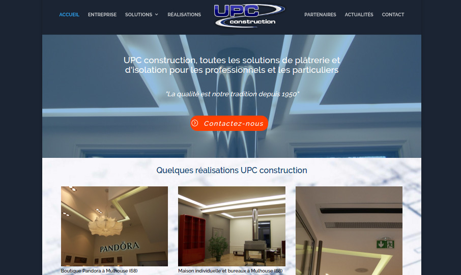Nouveau site internet UPC construction